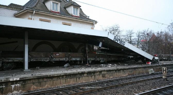 Güterzugunfall im Bahnhof Feuerbach
