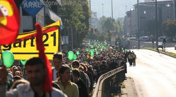Samstagsdemo gegen Stuttgart 21 / Fasanenhof
