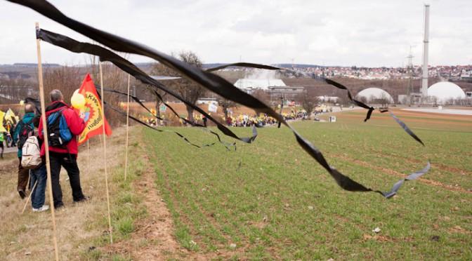 Blockade der Zufahrt des AKW Neckarwestheim