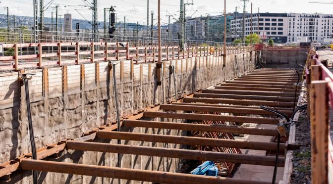 """Neue S-Bahn zur """"Mittnachtstraße"""" / Baulogistik"""