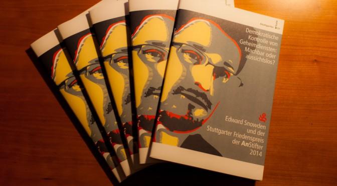 Edward Snowden / Stuttgarter Friedenspreis Dokumentation