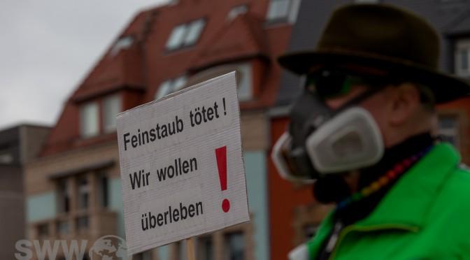 Demonstration für bessere Luft in Stuttgart