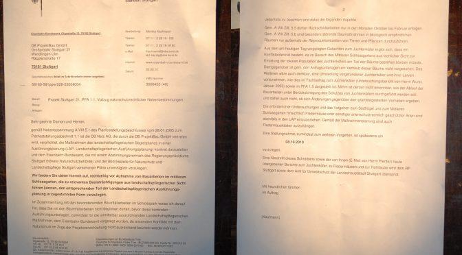 Illegale Baumfällung und damit sinnloser Polizeieinsatz 30.09.2010