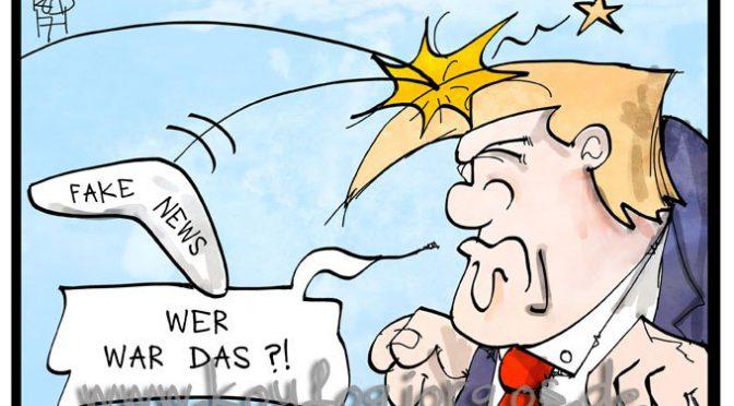 Karikatur des Tages – Fake-President